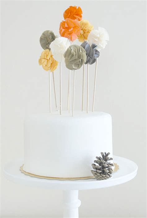 Wedding Cake Toppers Simple by Wedding Cake With Pom Pom Toppers Wedding Cakes