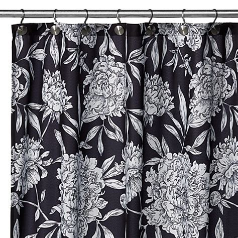 single stall shower curtain watershed 174 single solution 2 in 1 peony fabric stall
