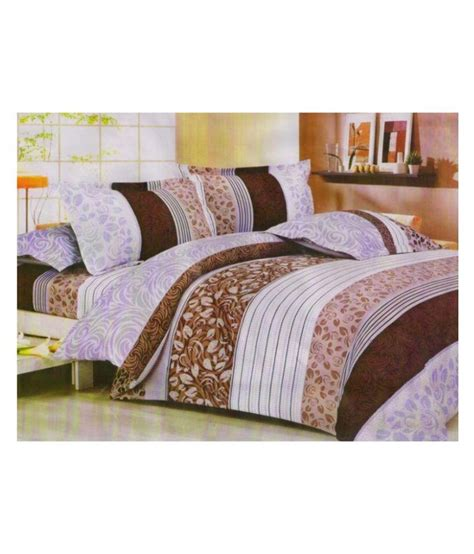 polyester bed sheets miraaya brown polyester double bed sheet with 2 pillows