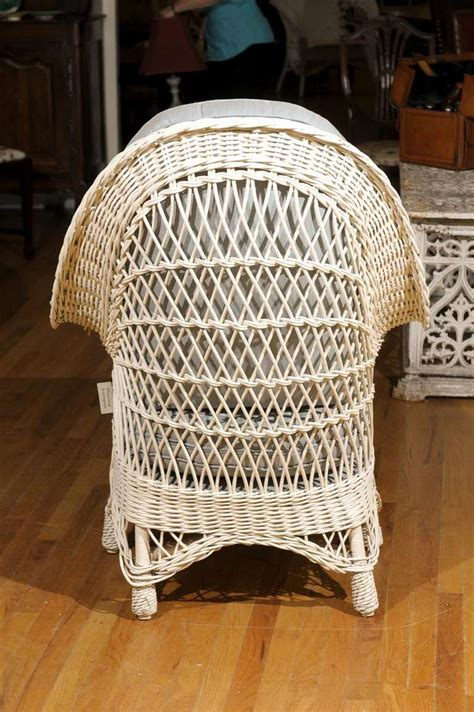 antique wicker chaise american antique wicker chaise c1920 at 1stdibs