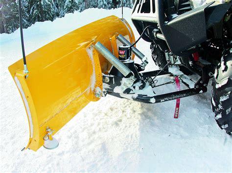 snow plow 2013 atv and utv snow plow buyer s guide atv illustrated