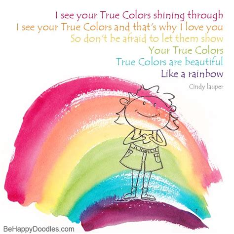 true colors shining through be happy doodles i see your true colors shining through