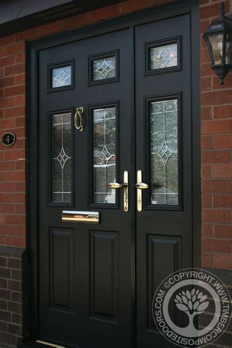 Solidor Front Doors Solidor Tenby Composite Door In Black With Matching Frames And Side Panels Part Of Our Timber