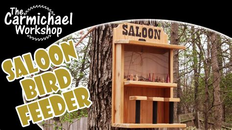 saloon bird feeder easy diy weekend woodworking