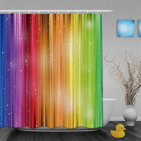 magic curtains magic striped rainbow shower curtains waterproof fabric
