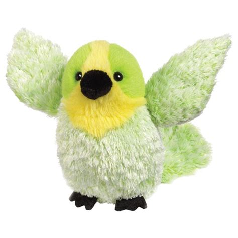 green budgie bird webkinz lil kinz plush toy
