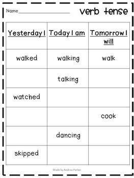 verb pattern lead 17 images about verb worksheets on pinterest circles