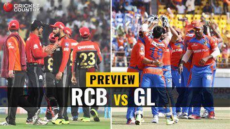 royal challengers bangalore vs gujarat lions live live ipl 2017 score royal challengers bangalore rcb vs
