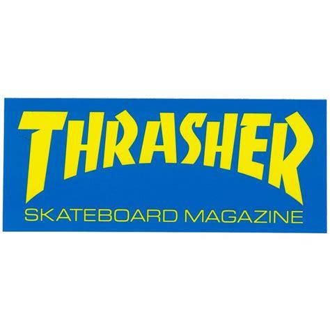 thrasher thrasher magazine logo sticker thrasher from