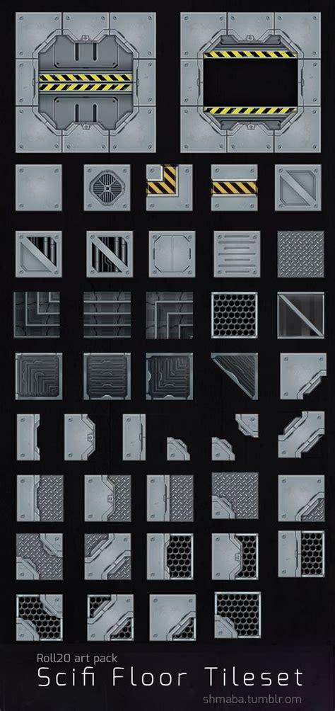 scifi floor tileset  roll tabletop games sci fi