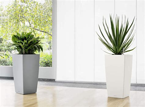Silver Planters Outdoor by Lechuza Cubico Silver Indoor Outdoor