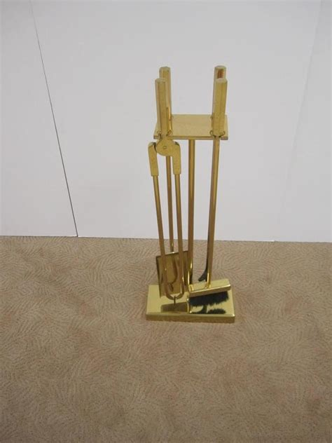 Fireplace Tool Set Sale by Vintage Modern Brass Fireplace Tool Set For Sale At 1stdibs