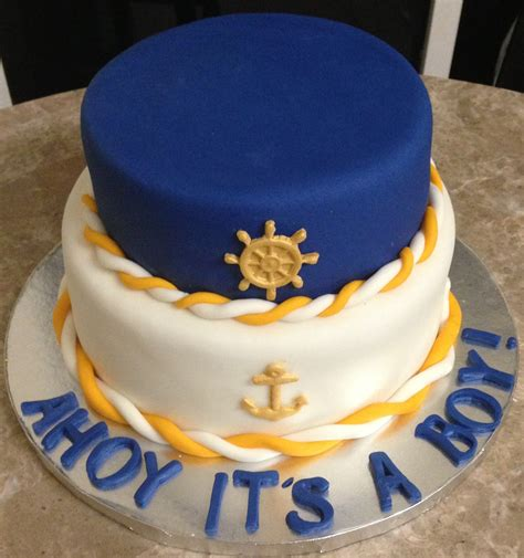 Nautical Baby Shower Cakes by Nautical Baby Shower Cake Ideas And Designs