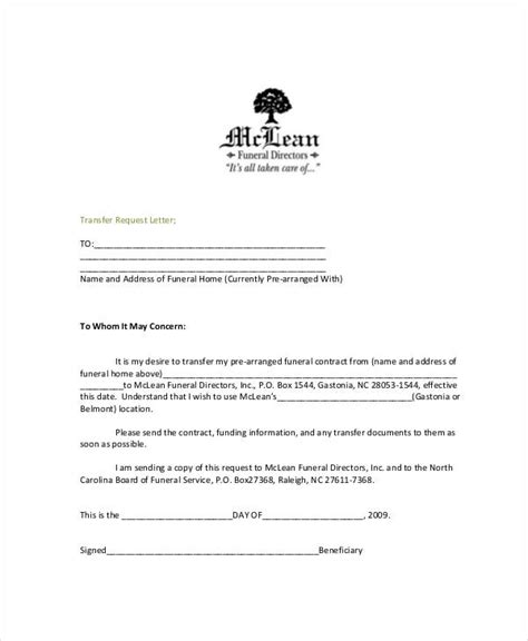 Amount Transfer Request Letter 48 Exles Of Formal Letters