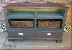 turning a dresser into repurposed decor for the abode