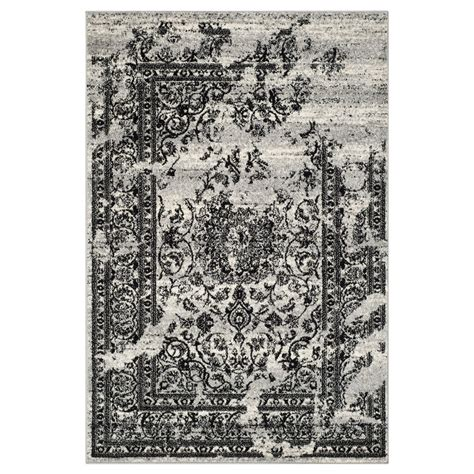 and black area rugs safavieh adr101a adirondack silver and black area rug