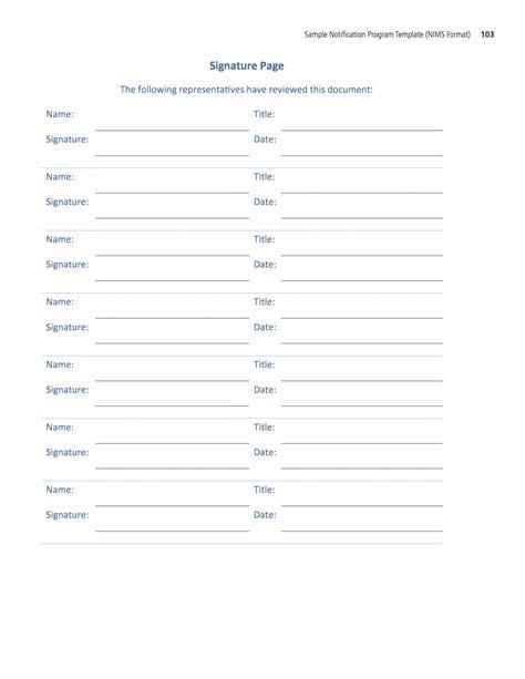 signature page template signature page template motif documentation