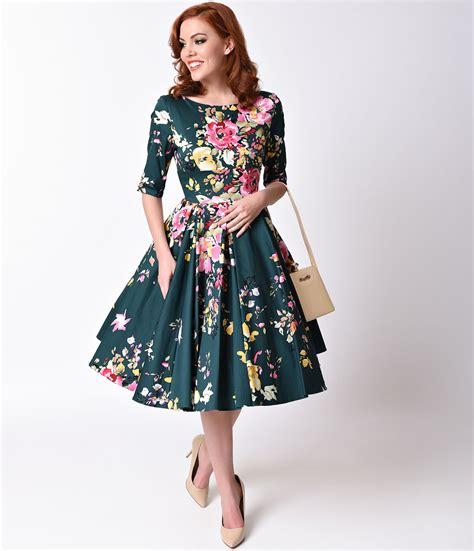 1950s style swing dress 1950s dresses 50s dresses swings floral and vintage