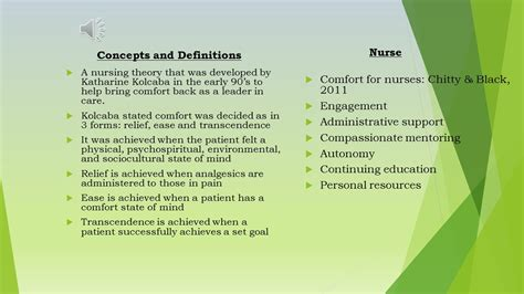 concept of comfort in nursing the 4 metaparadigm concepts according to the comfort