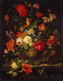 vase of flowers painting mignon abraham painting