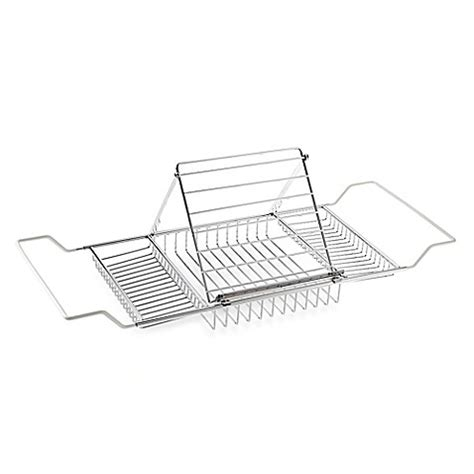 chrome bathtub caddy buy jumbo chrome plated bathtub caddy from bed bath beyond