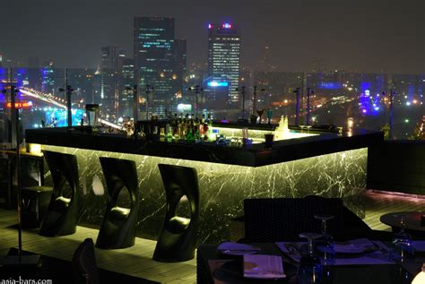 top roof bar blue sky rooftop bar restaurant at centara grand central plaza ladprao bangkok