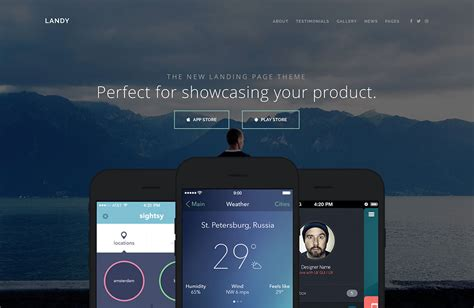 website for themes download for mobile 33 best app software showcase wordpress themes 2018
