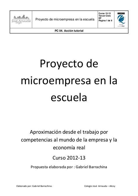 Proyecto De La Escuela   proyecto de microempresa en la escuela colegio jos 233 arnauda