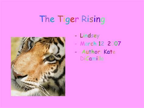 the tiger rising book report tiger rising