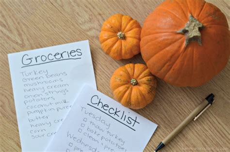 Thanksgiving Tip Make A List Or Two by Thanksgiving Tips And Tricks To Help Plan The Meal