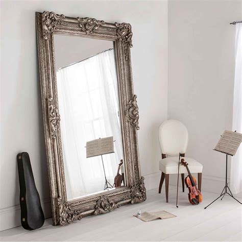 buckingham silver antique french style floorstanding mirror french mirrors from homesdirect 365 uk