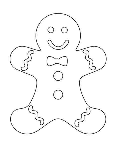 Gingerbread Man Coloring Page Coloring Home Coloring Pages Gingerbread