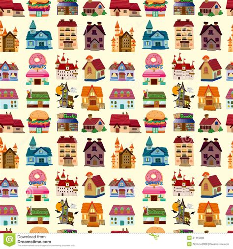 house pattern vector seamless house pattern stock vector image of exterior