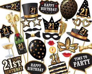21st decorations 21st birthday photo booth props instant printable