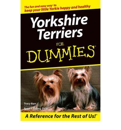 yorkies for dummies terriers for dummies tracy barr 9780764568800