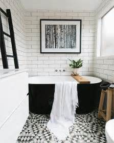 black and white tile in bathroom 25 best ideas about black white bathrooms on