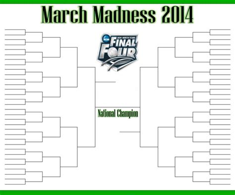 free march madness blank template new calendar template site