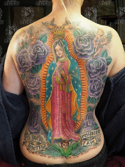 holy mary tattoo designs holy backpiece by darko groenhagen darko s