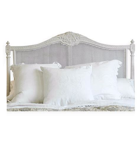 Country Headboard by Louis Xvi Country White Painted Headboard Kathy Kuo Home