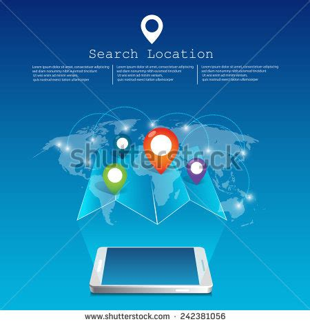 Phone Lookup Map Location Travel Location Map Stock Vector 301533917