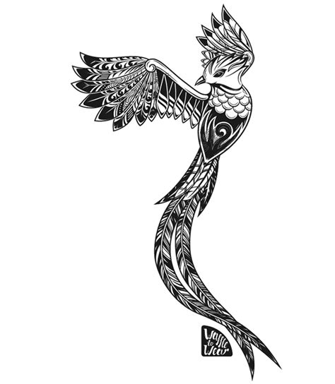 tribal quetzal tattoo image result for geometric quetzal quetzally pinterest