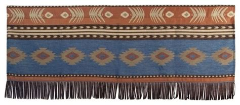 Badlands Leather C Stool by Striped Southwest Valance Southwestern Valances