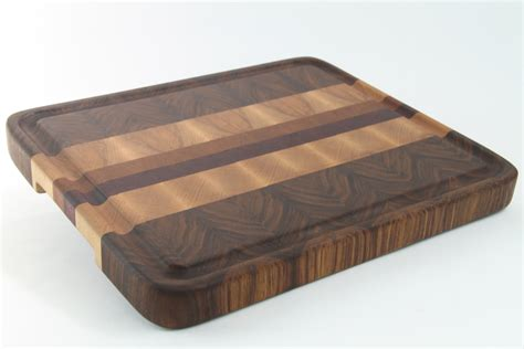 Handcrafted Wood - handcrafted wood cutting board end grain walnut cherry