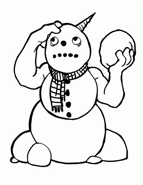 snowman reading coloring page coloring book snowman
