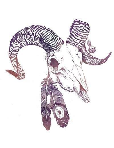fantastic amazing bull skull tattoo great ram skull with feathers design tattooimages biz