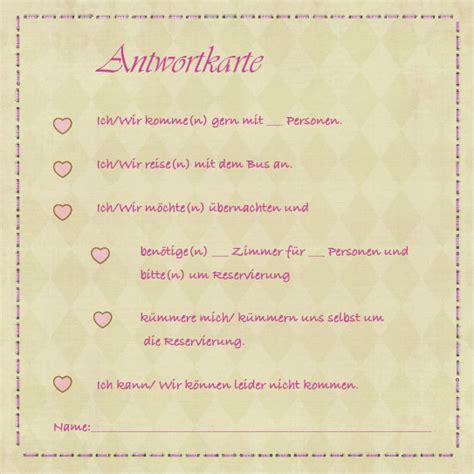 Hochzeitseinladung Antwortkarte by Antwortkarten Z 252 Nftig Trachtig