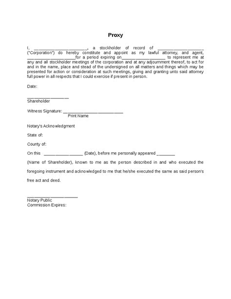 proxy letter template 28 images appointment of proxy