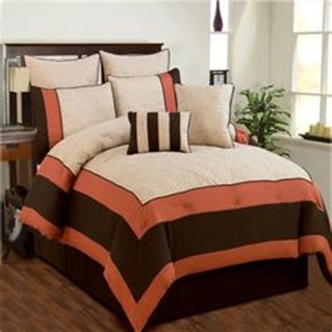 beige and coral bedroom 7 pieces luxury coral orange grey and white quilted linen comforter set bed in a