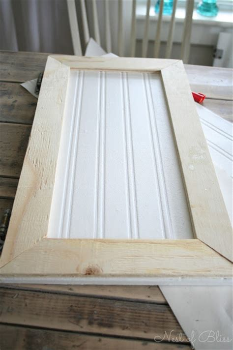 How To Redo Cabinet Doors Diy Beadboard Wallpaper Cabinets Nest Of Bliss