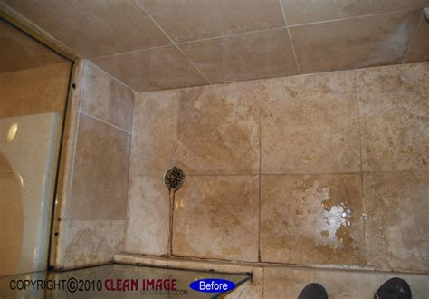 Travertine Shower   Floor Refinishing   Natural Stone and
